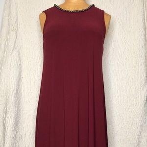 Karl Lagerfeld Burgundy Dress Size 0